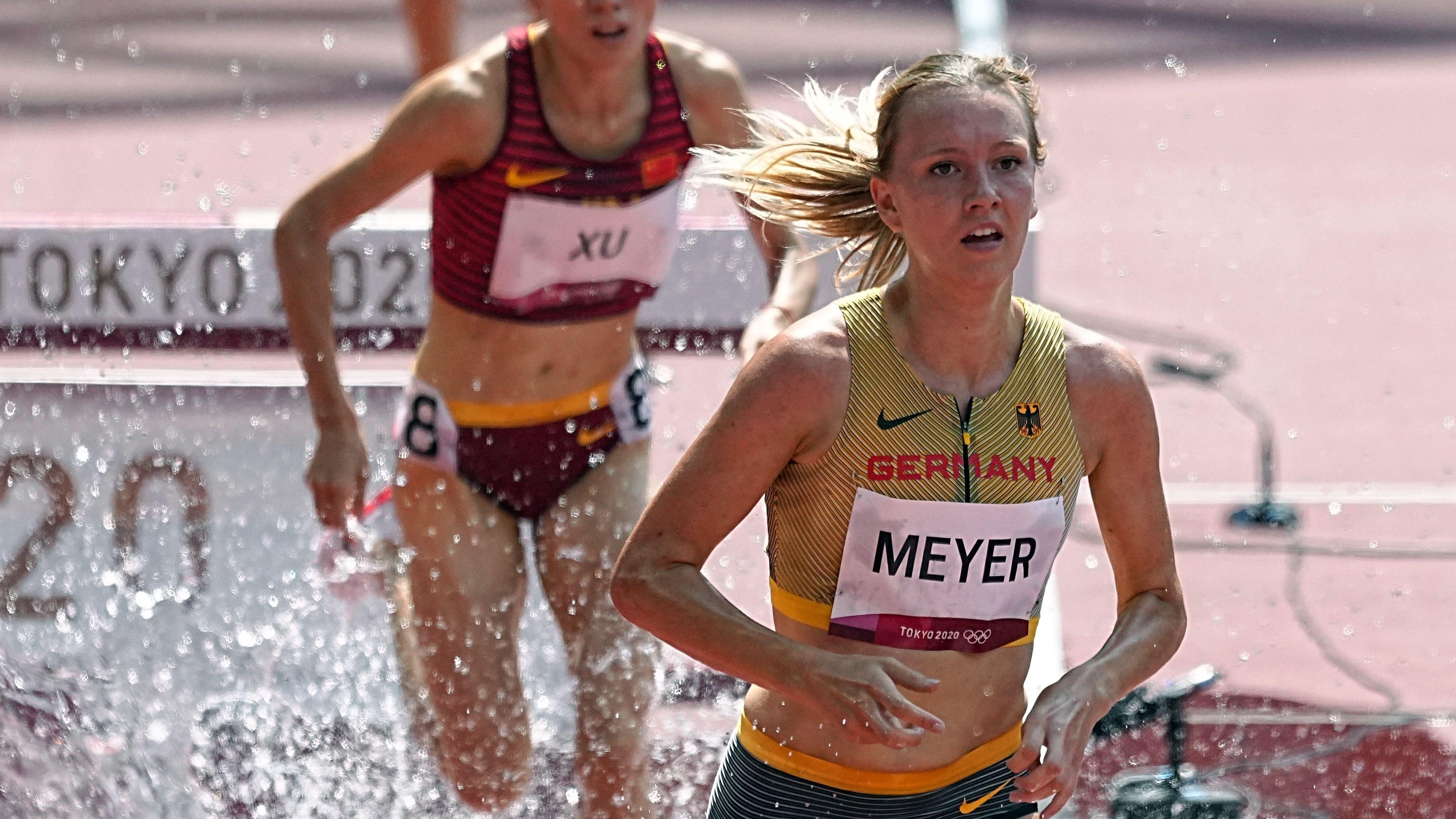 Als 7. ihres Vorlaufes hatte Lea Meyer über 3000 Meter Hindernis letztlich keine Chance auf einen Platz im Finale. Foto: dpa/Kappeler