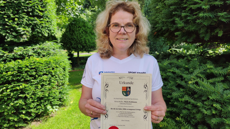 Ausgezeichnete Läuferin: Maria Kuhlmann leitet seit nunmehr 20 Jahren ehrenamtlich den Lauftreff beim OSC Damme. Foto: Röttgers