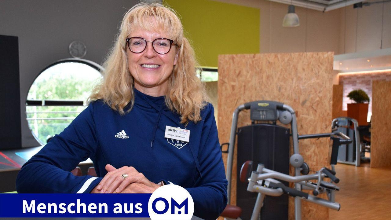 Hier fühlt sie sich wohl: Anette Hörstmann im aktivcenter des TV Dinklage. Foto: Klöker