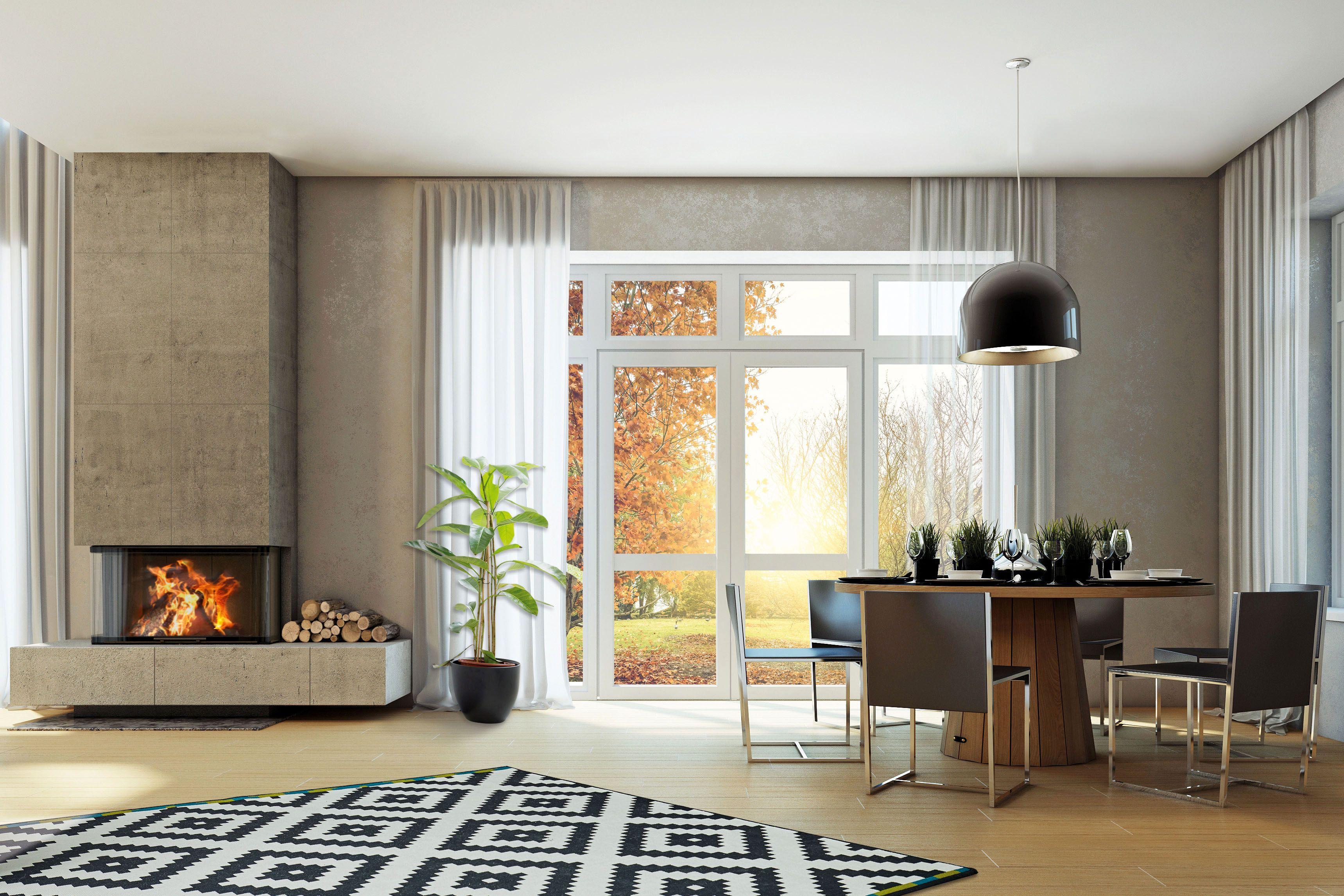 Blickfang mit Charakter: Heizkamine erhöhen den Wohnwert durch ihre Ausstrahlung und ihr Design. Foto: djd/AdK/www.kachelofenwelt.de/Camina Schmid