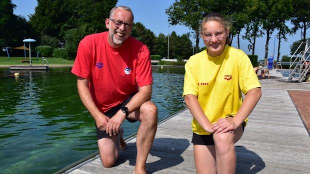 Naturbad Vörden: Ludger Wüllner hat immer ein Auge auf Schwimmer
