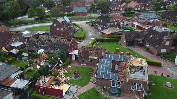 Wetterdienst: Tornado zog über ostfriesische Gemeinde