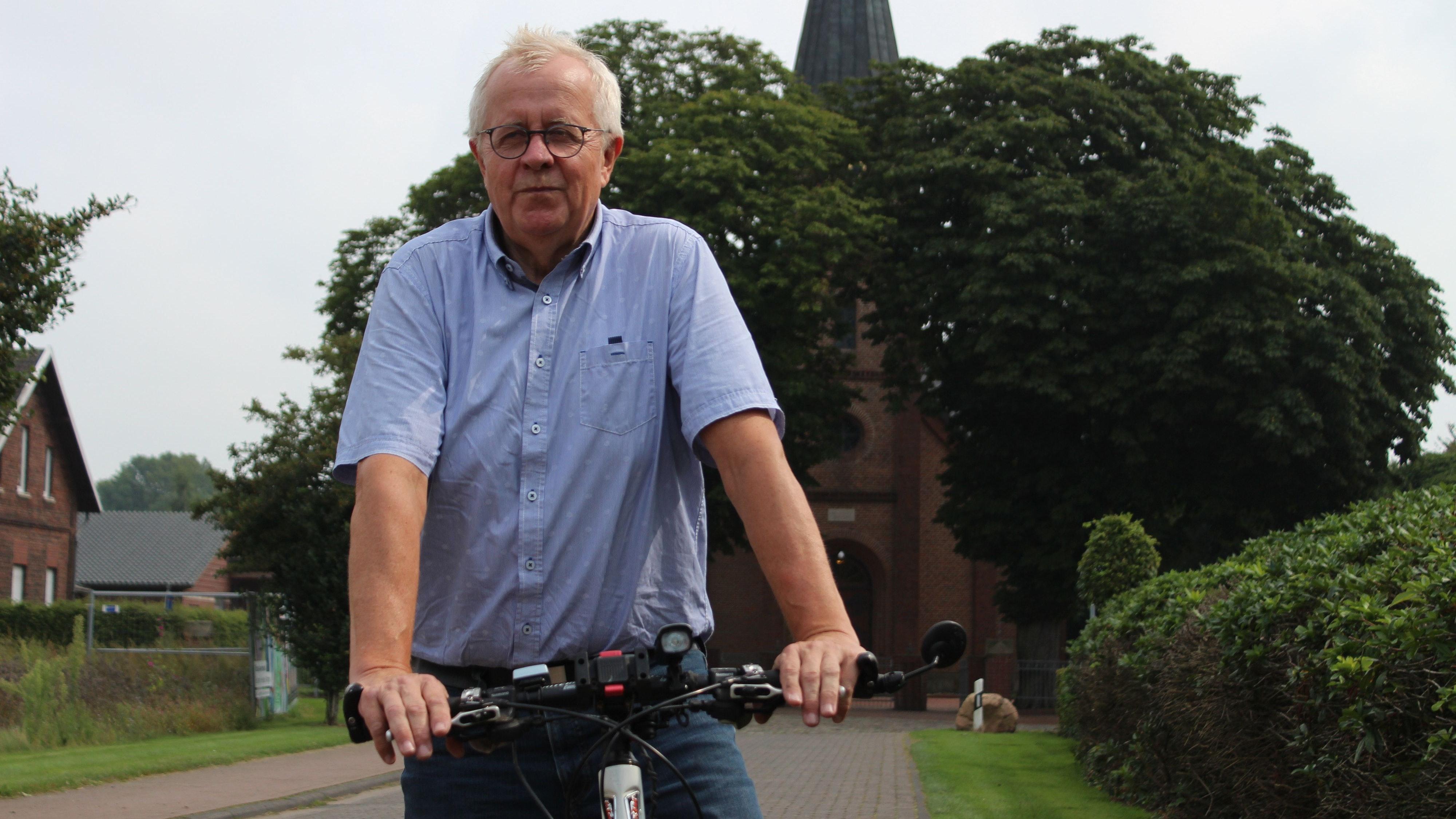 Nach Carum kommt einer von Hubert Krögers liebsten Orte auf der Radtour - das Naturschutzgebiet Lüscher Polder. Foto: Heinzel