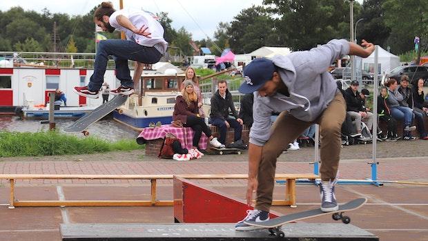 Skater zeigen ihr Können im Barßeler Hafen