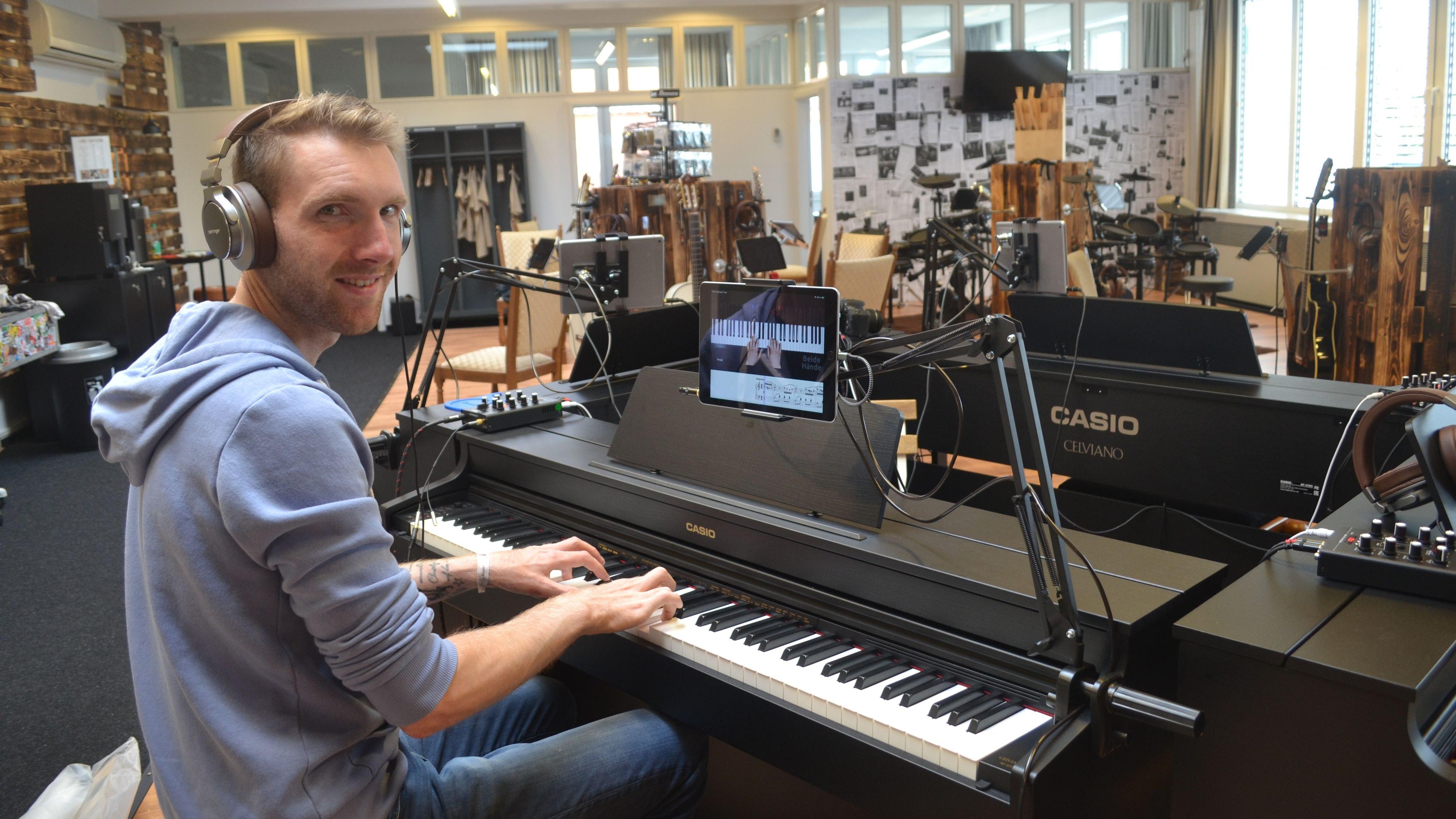 Chris Bruns hofft, mit seinem Musikschul-Konzept Denkblockaden zu lösen. Foto: Schrimper