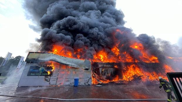 Fitnessstudio in Vechta steht in Flammen