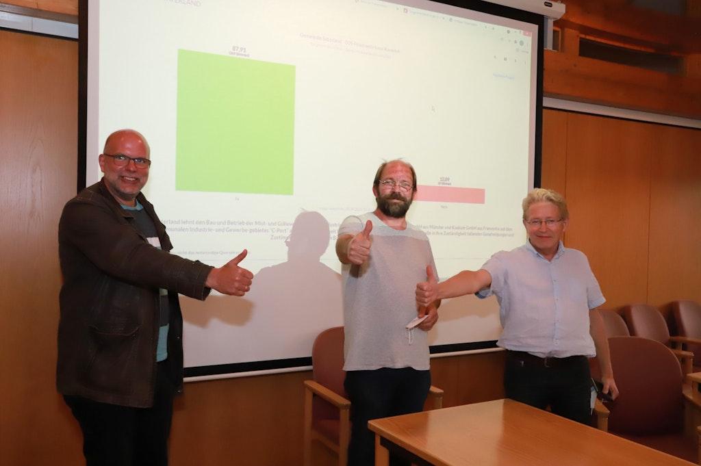 Saterländer votieren gegen Biogasanlagen am C-Port