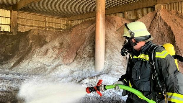 Schwelbrand in Böseler Kompostierwerk