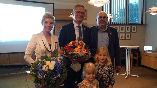 Tobias Averbeck geht in eine weitere Amtszeit als Bakums Bürgermeister