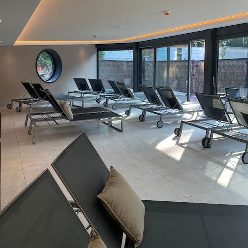 Neues Angebot: Der Ruheraum ist 110 Quadratmeter groß. Foto: Hotel Heidegrund