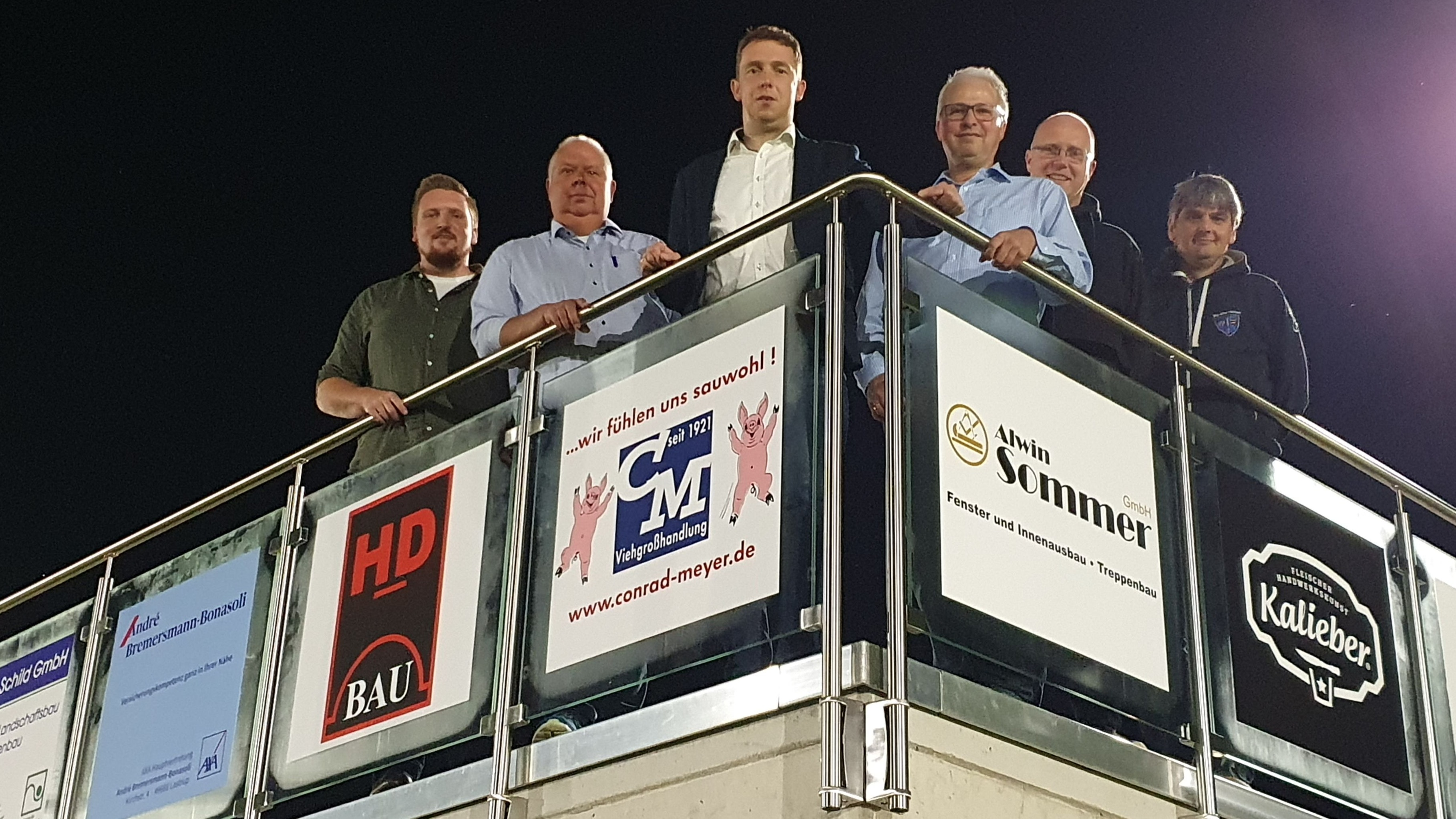 Neu gewählt: Der Vorstand des FC Lastrup mit (von links) Jannek Braun, Conrad Meyer, Klaus Schmunkamp, Detlev Lamping, Wolfgang Lampe und Wolfgang Wienken. Foto: Verein