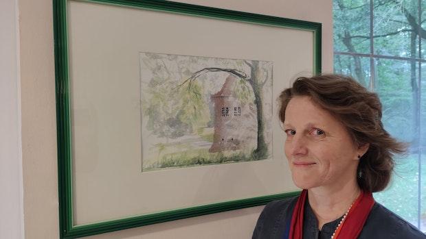 Theresia von Fürstenberg stellt Aquarelle im Burgcafé in Dinklage aus
