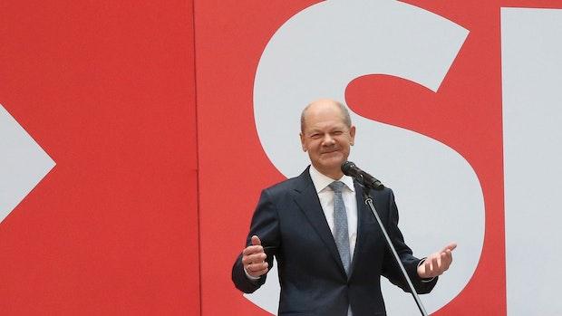 """Olaf Scholz:SPD, Grüne und FDP haben """"einen sichtbaren Auftrag"""""""