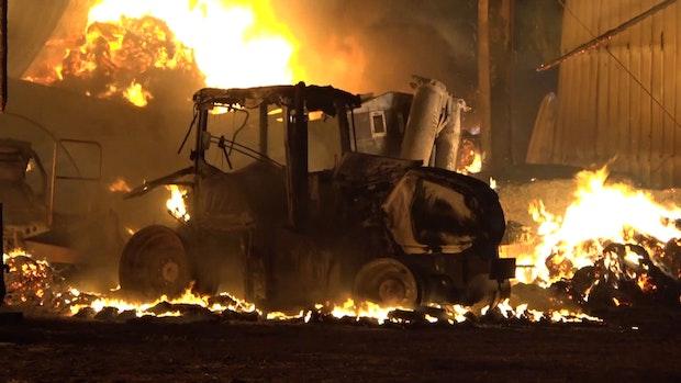 Brand in landwirtschaftlicher Lagerhalle verursacht Millionenschaden