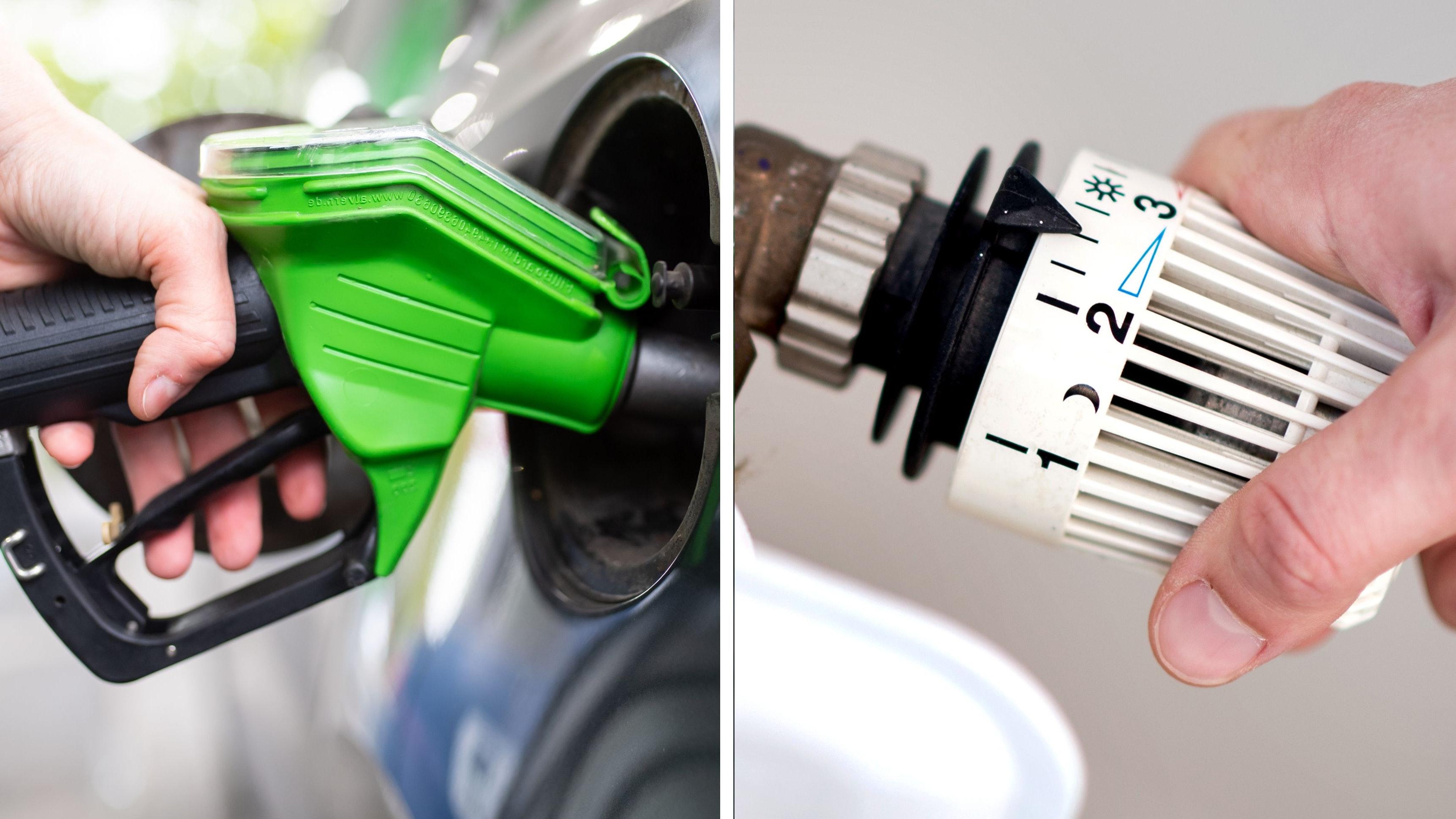 Verbraucher müssen für Kraftstoffe und Haushaltsenergie nach den vorläufigen Daten 14,3 Prozent mehr zahlen als ein Jahr zuvor. Fotos: dpa