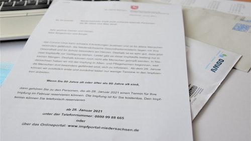 Ü80-Impfkandidaten im Kreis Vechta erhalten zwei Mal Post