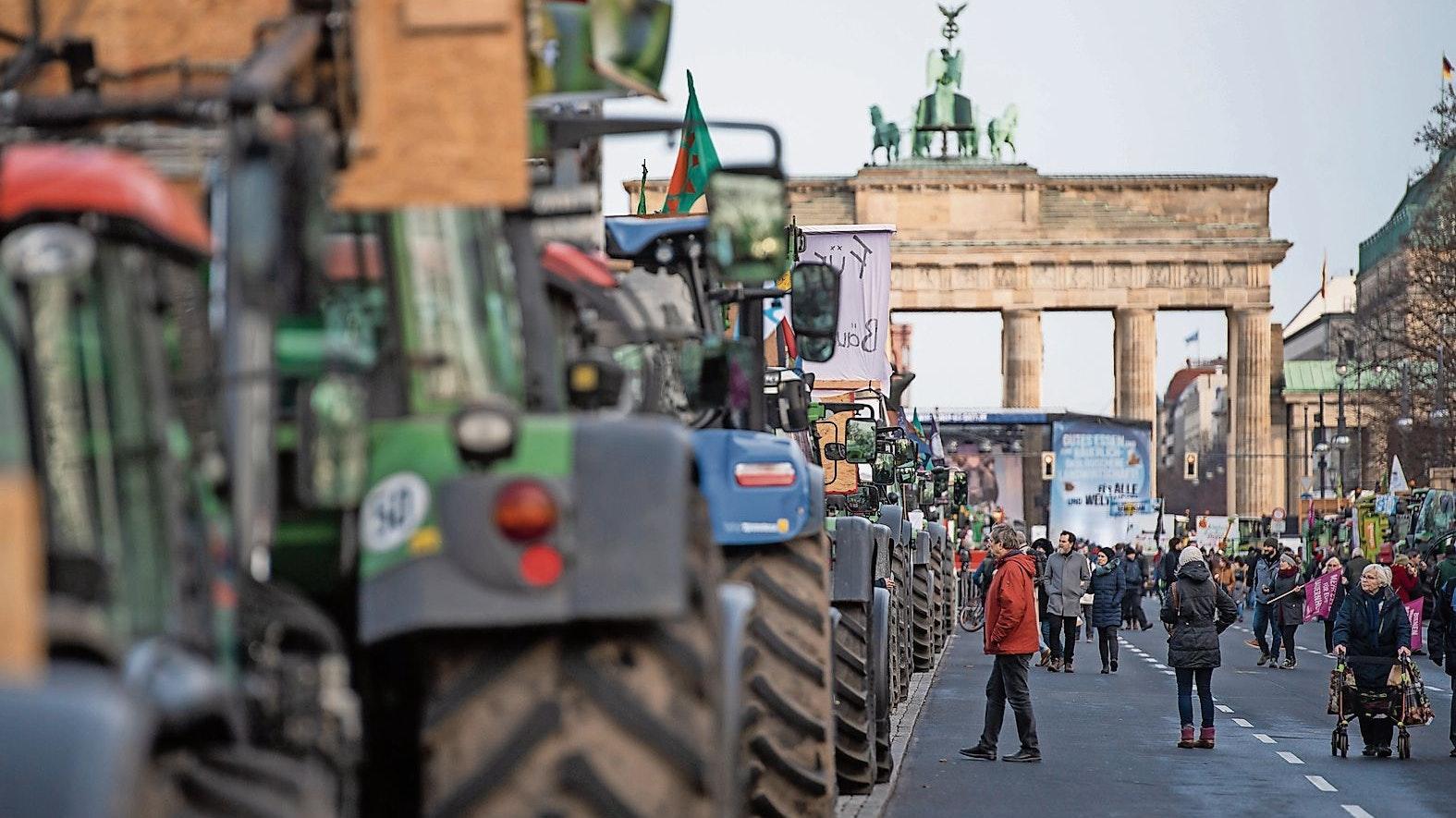 Neuauflage geplant: Kommende Woche wollen Bauern in Berlin demonstrieren. Foto: dpa