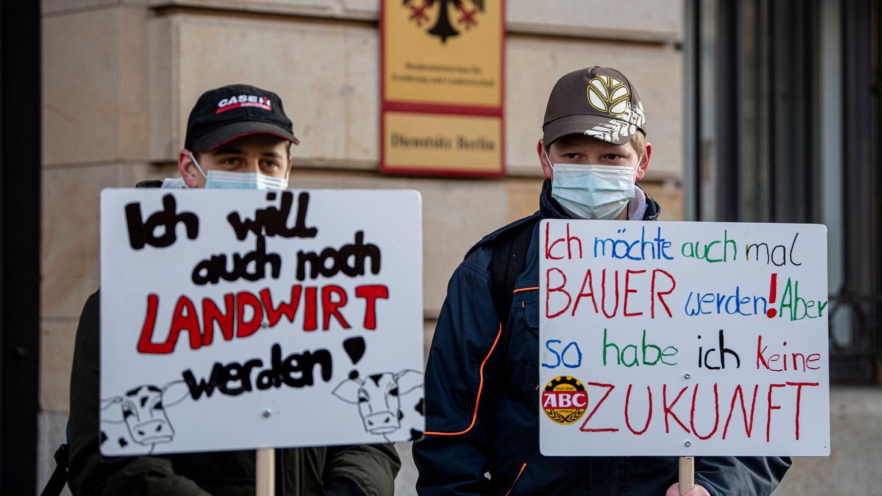 Bauernproteste: Demonstriert wurde auch in Berlin. Archivfoto: dpa