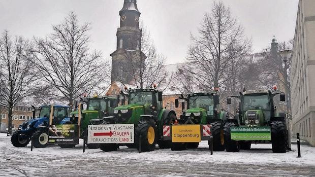 Protest:Cloppenburger Landwirte übernehmen Mahnwache