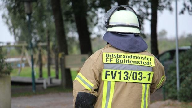 In Arkeburg brennt wieder ein Hackschnitzelhaufen