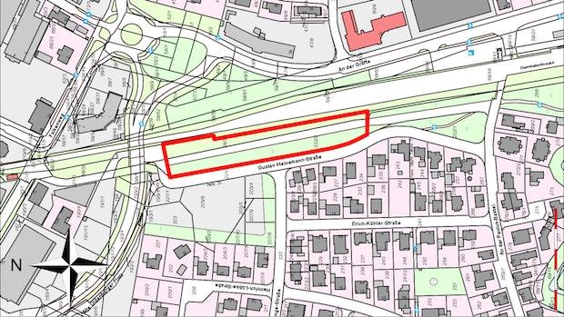 Bürogebäude sollen neben der Bahnstrecke in Vechta entstehen