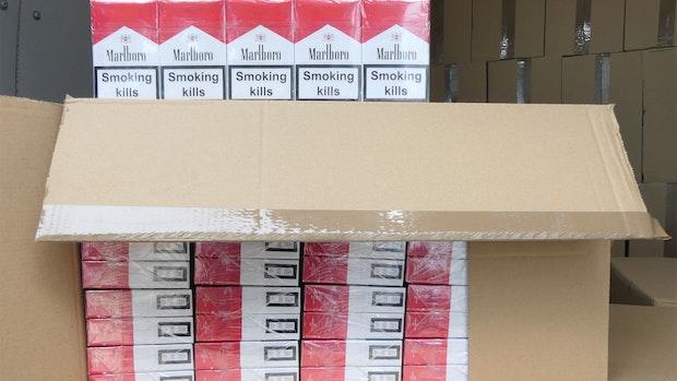 Zoll stellt bei einer Razzia 1,3 Millionen Zigaretten sicher