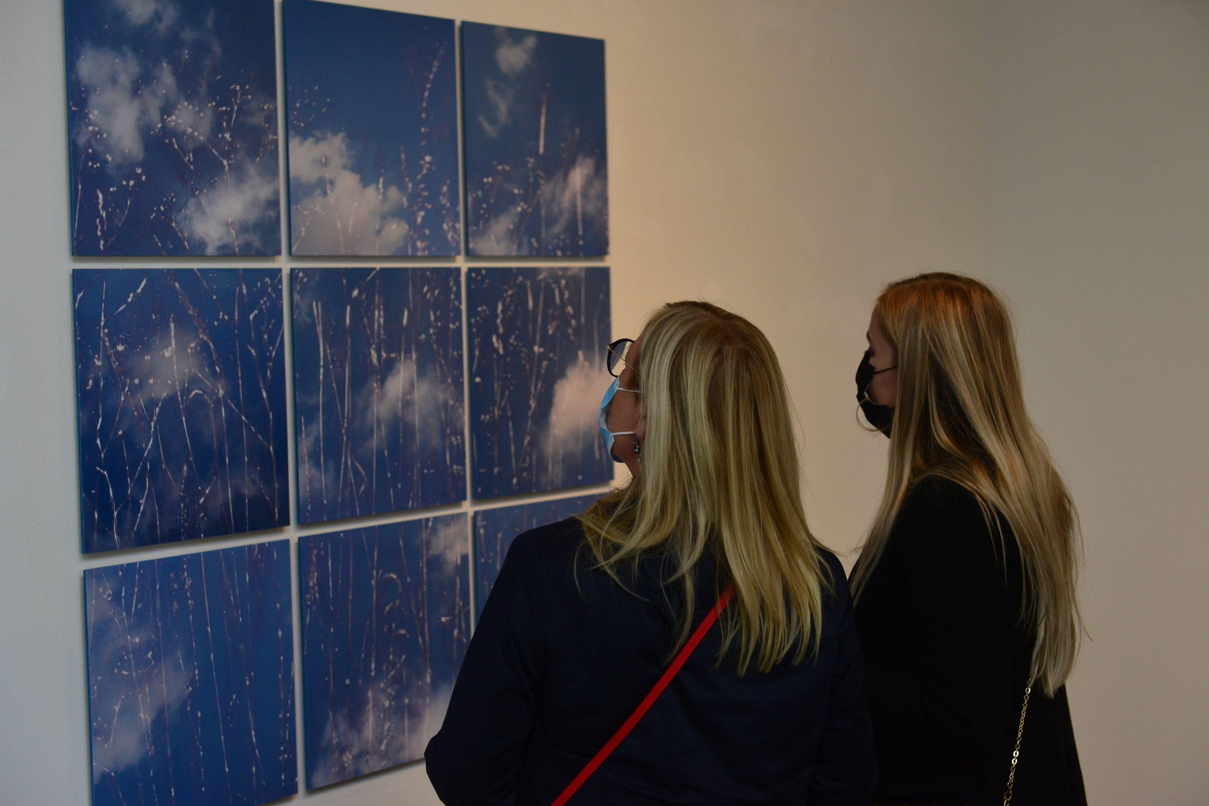 Spezielle Technik: Mit der von ihm entwickelten Bearbeitungstechnik des Frotaggierens schafft es der Bremer Künstler Werner Henkel, seine Fotodokumentation von Himmelsfotos als Lyrik zu sehen und Gräser nahezu materiell zu vergeistigen. Foto: Heidkamp