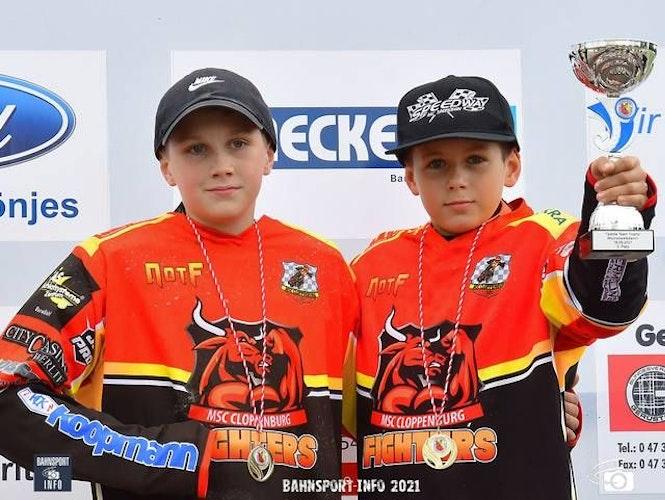 Schnell unterwegs: Carl Wynant (links) und Valentino Scheibe starteten für die MSC Fighters in Leipzig. Foto: Bandy