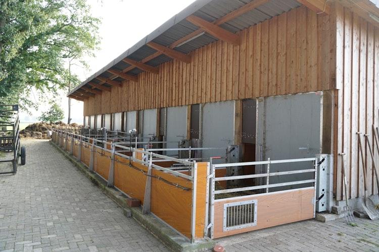 Blick auf die Außenausläufe am Stall des ökologisch bewirtschafteten Wilhelminenhofes in Bakum. Foto: Weda