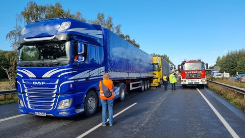 250.000 Euro Schaden nach Unfall auf der A1