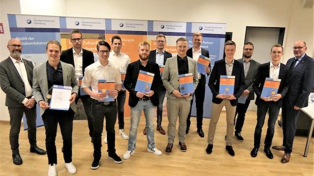 Starke Azubis aus dem Handwerk im Oldenburger Münsterland:Betriebe stellen 14 Kammersieger