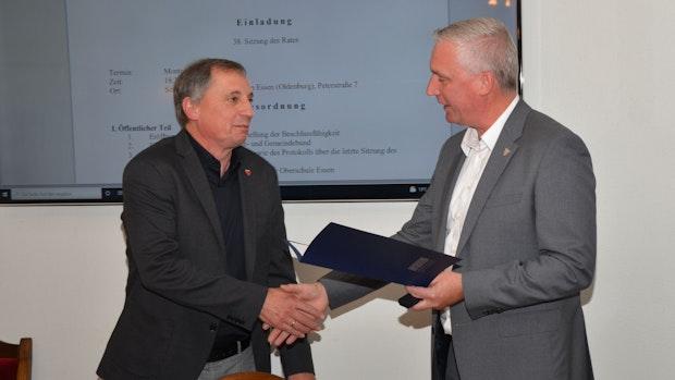 Essens Bürgermeister verabschiedet Ratsmitglieder
