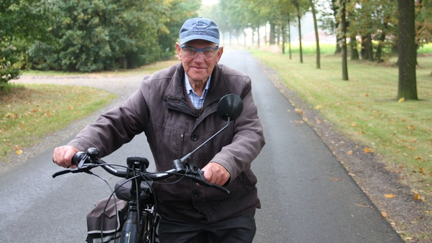 Auf dem Fahrrad fühlt Fritz Niehues sich wohl