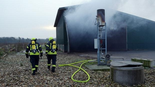 Brand in einer Biogas-Anlage schnell gelöscht