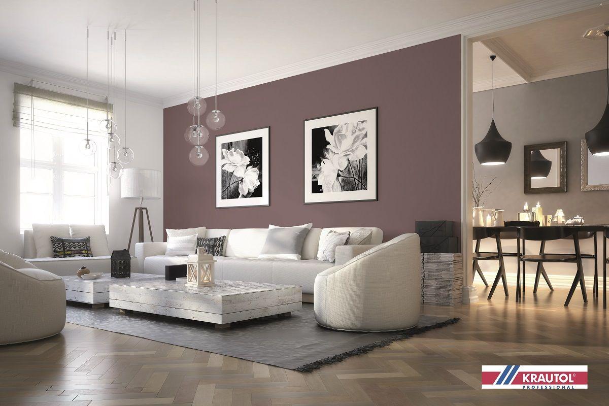 Alles andere als langweilig: So wirkt die Wandfarbe im Wohnzimmer inspirierend. Foto: Stock adobe/Dariusz Oczkowicz