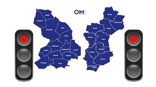 395 Neuinfektionen im Oldenburger Münsterland in den letzten 7 Tagen