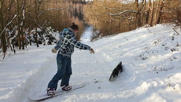 SgH:Auf dem Snowboard durch die Dammer Berge