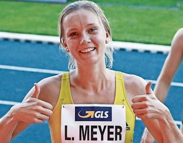 Zuversichtlich: Lea Meyer befindet sich derzeit trotz aller Widrigkeiten in einer ausgezeichneten Form. Foto: Harald Prepens
