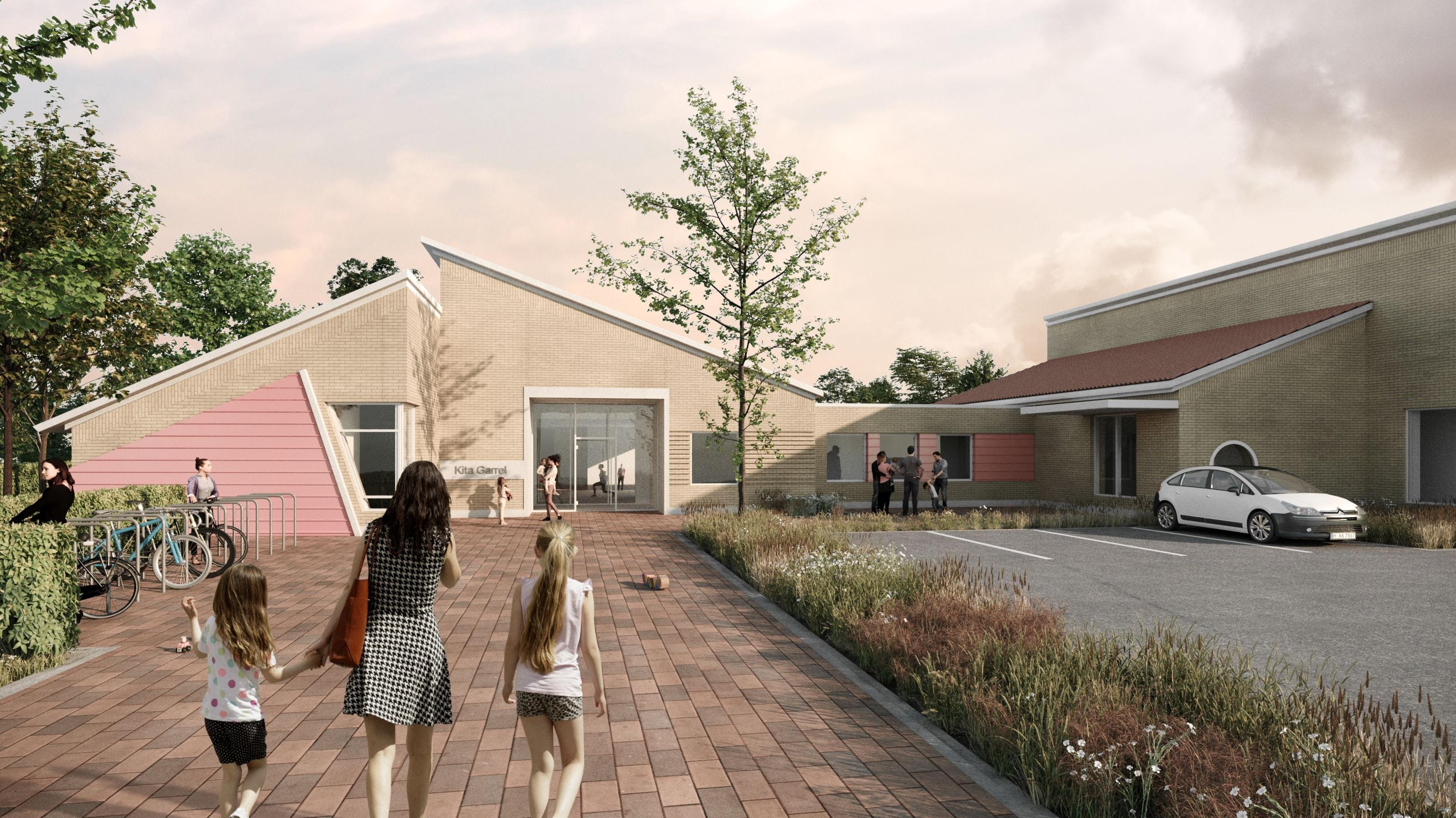 """Eines von mehreren Projekten: So soll die neue Kindertagesstätte """"In der Marsch"""" aussehen. Die Kosten belaufen sich auf rund 2,9 Millionen Euro. Visualisierung: Bramlage Schwerter Architekten GmbH"""