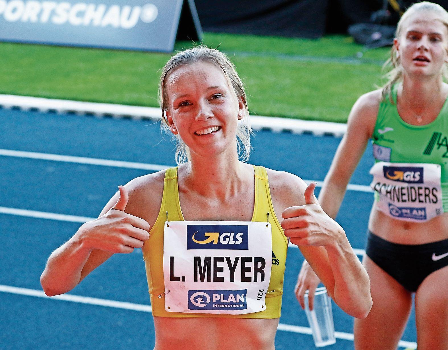 Daumen hoch: Lea Meyer darf in nächsten Woche bei der Hallen-EM über 3000 Meter starten. Archivfoto: Prepens