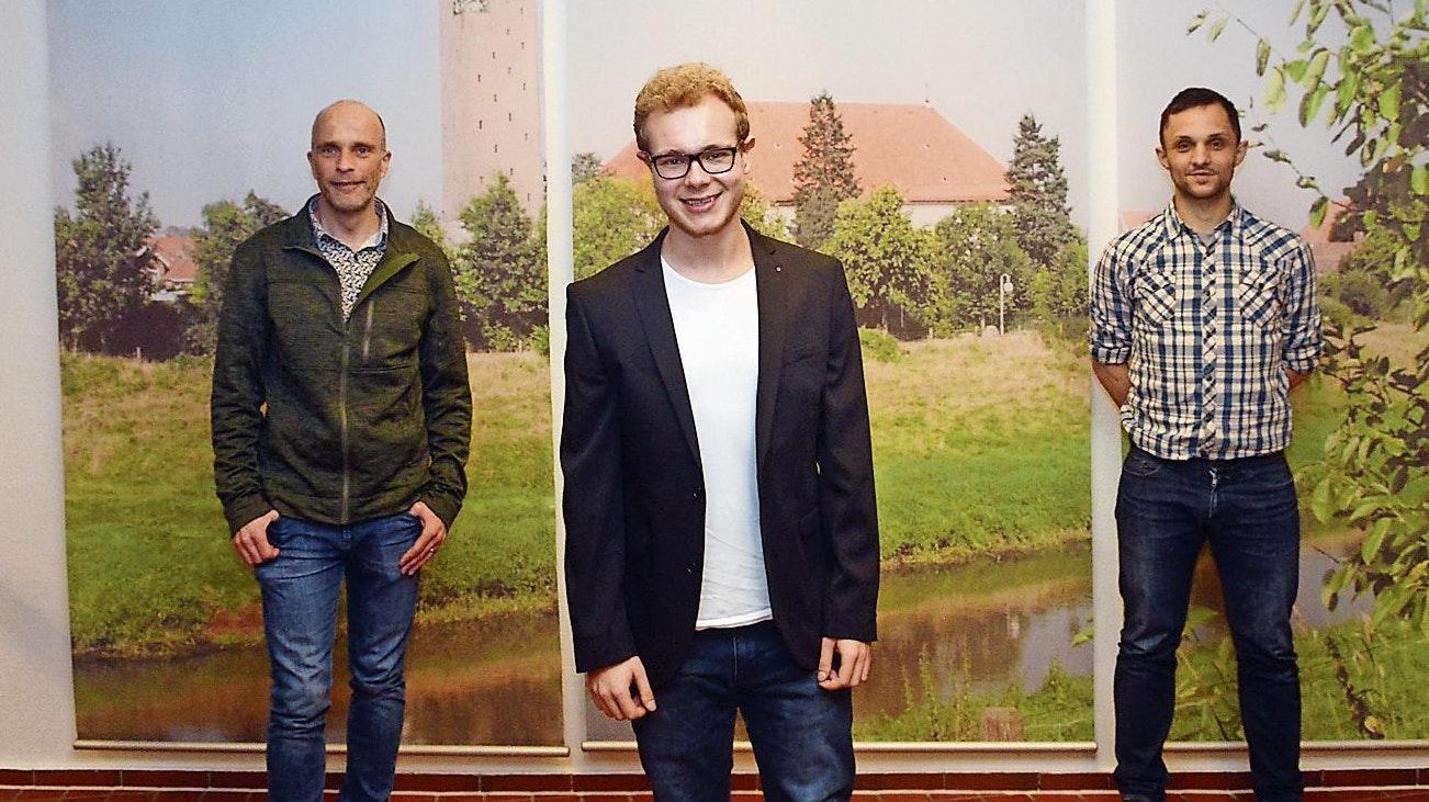 Bürgerbündnis startet Aufruf: Gemeinsam suchen Egbert Schäpker (von links), Nico Neubert und Tom Dobrowolski einen eigenen Kandidaten für die Bürgermeisterwahl im September. Foto: Willi Siemer