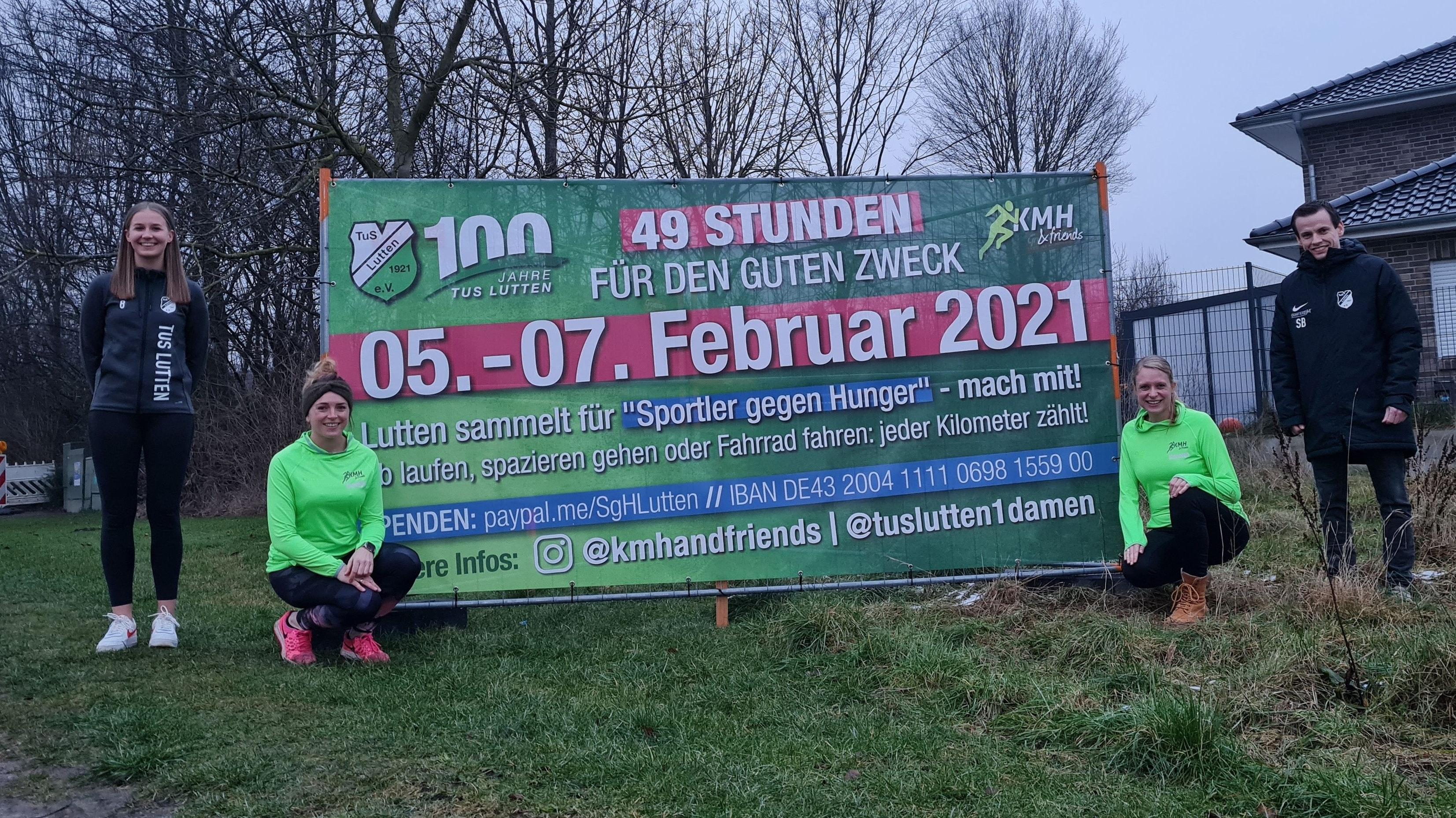 Bereit für das SgH-Wochenende: Von links Franka Kohl, Franka Meyer, Carolin Kock und Steffen Boning. Foto: Kohl