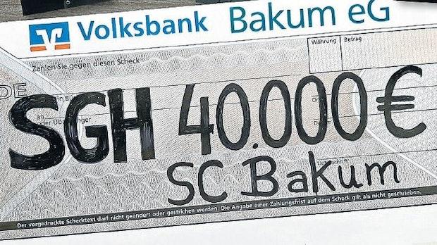 Bakum lässt es krachen: 40.000 Euro für SgH