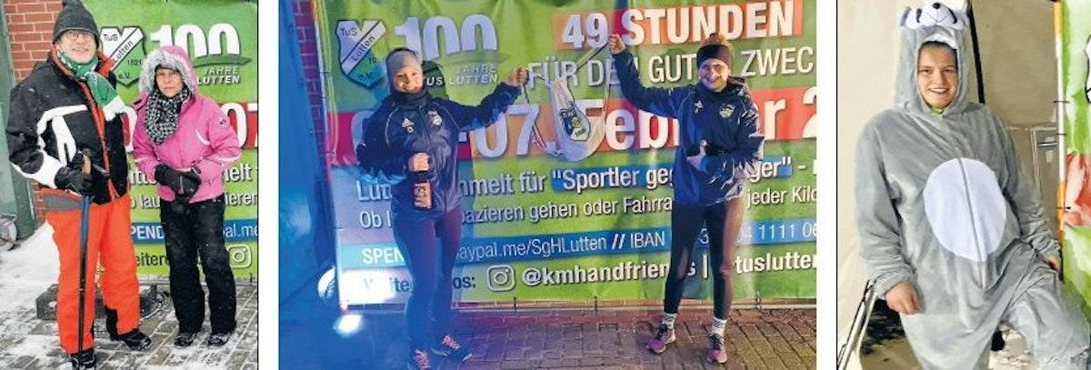 In bester Laune: Von links Klubchef Heinrich Blömer mit seiner Frau Ruth,Svenja Aff mit Theresa Schlömer undSarah Geerken.