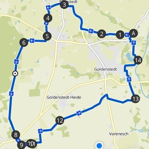 Hier gehts lang: Die 22-km-Strecke für Tourenräder. Foto: Fortuna Einen