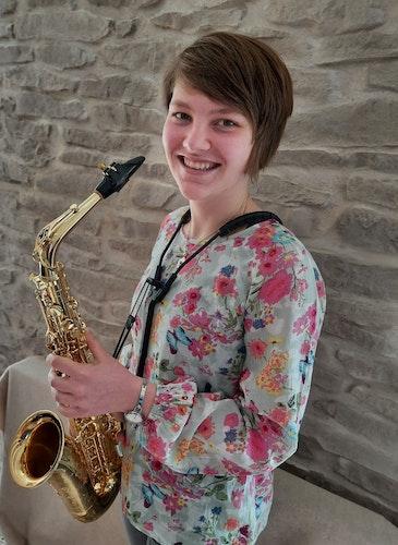 Caroline Schulzefaszinieren der volle, warme Klang und die vielfältigen Ausdrucksmöglichkeiten des Saxophones. Foto: privat