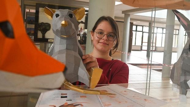 Antonia erschafft eine Tierwelt aus Pappe