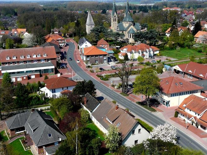 Heute: 2010 konnte Heinz Hartmann dieses Bild von Langförden aufnehmen. Foto: H. Hartmann