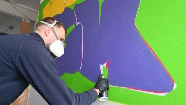 Graffito ziert Emsteker Jugendforum