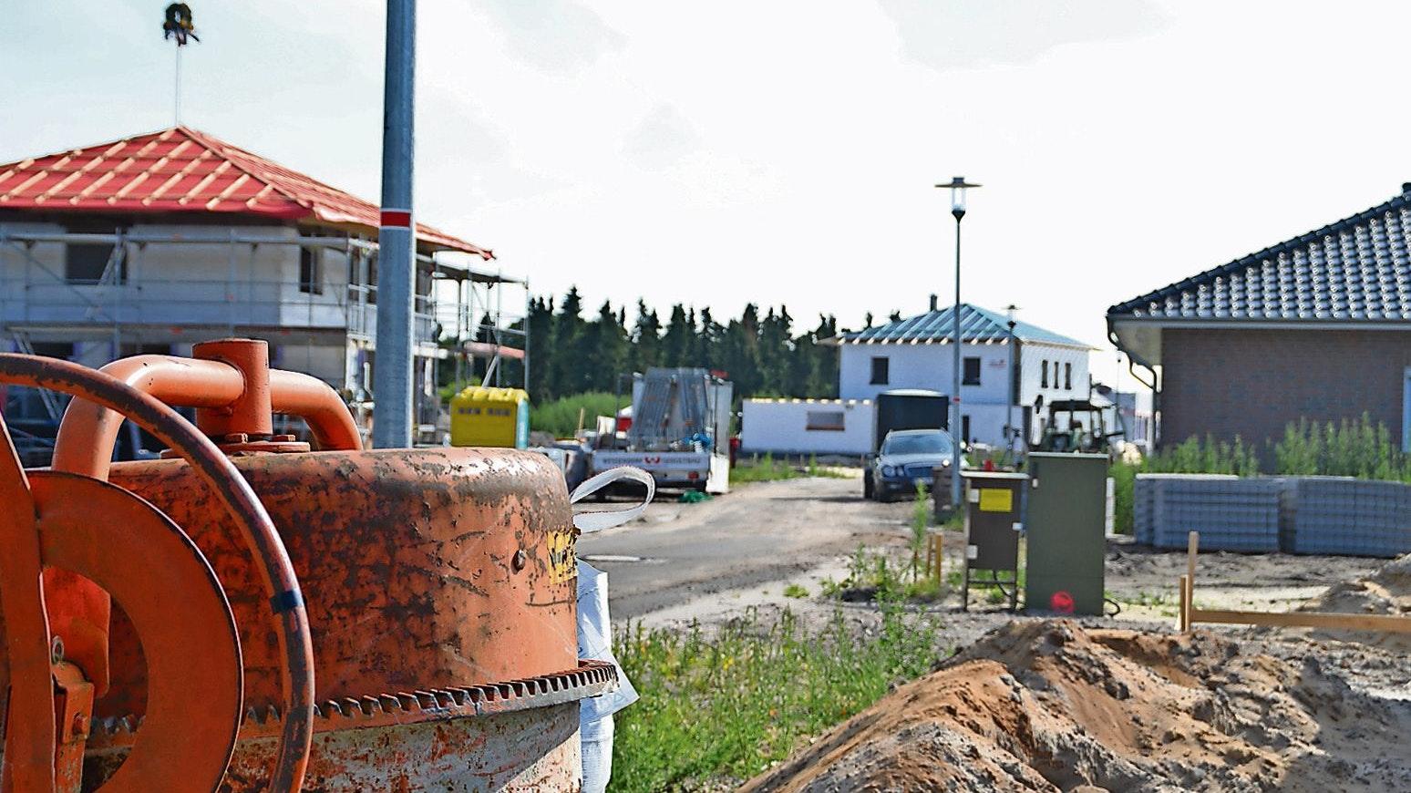 Begehrtes Bauland: In Bösel ist die Nachfrage nach Baugrundstücken und Wohnhäusern deutlich gestiegen. Auch bei den Preisen ging es steil nach oben, ein Quadratmeter Bauland kostete durchschnittlich 100 Euro - 85 Prozent mehr als noch 2019. Archivfoto: Wimberg